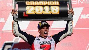 Marc Márquez ya suma siete títulos de campeón del mundo