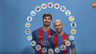 Mascherano y Gomes lo pasaron en grande colocando emoticonos