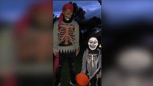 Messi se ha disfrazado de pirata y su hijo mayor, Thiago, de esqueleto