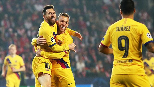 Messi marcó e igualó el récord histórico de Cristiano y Raúl en Champions