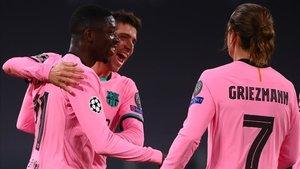 Osumane Dembélé celebró su titularidad abriendo el camino de la victoria del FC Barcelona ante el Juventus