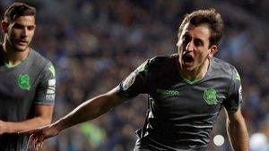 Oyarzábal anotó las dos primeras dianas en la victoria de la Real Sociedad.