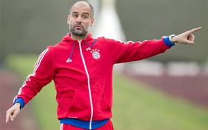 Pep Guardiola, durante los entrenamientos del Bayern en Catar