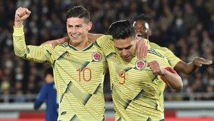 Radamel Falcao anotó el gol de la victoria para Colombia
