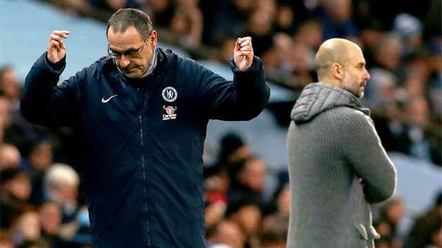 Sarri explica el desplante a Guardiola: No lo he visto, lo saludaré después