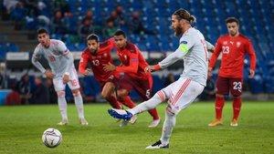 Sergio Ramos falló dos penaltis ante Suiza