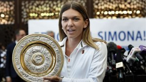 Simona Halep, ganadora del torneo de Wimbledon del año pasado en categoría femenina.