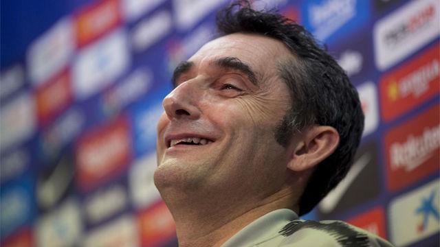 Valverde no dio pistas sobre la titularidad de Messi ante el Levante