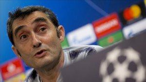 Valverde, en la rueda de prensa previa al partido ante el Inter