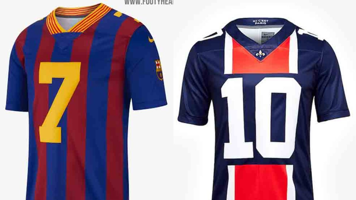 55edd2ca75571 Vea la camiseta del Barcelona inspirada en la NFL