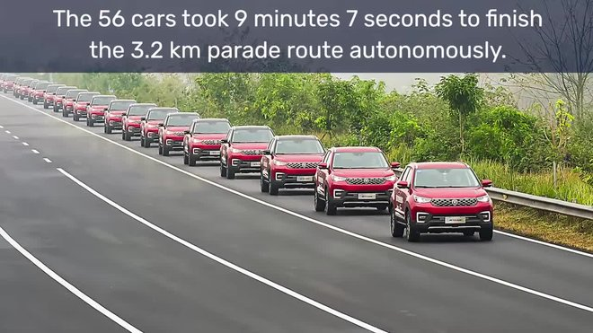 largest autonomous car parade - guinness world recordsyoutubecom