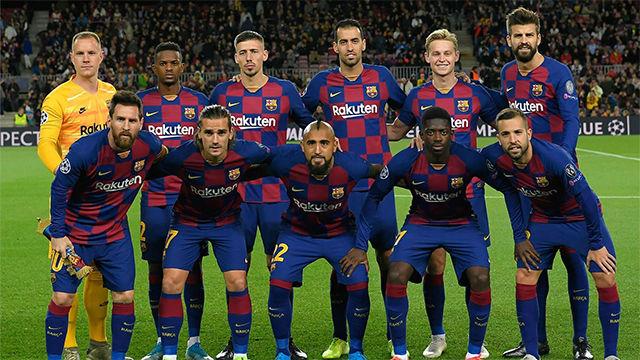 El 1x1 del Barça ante el Slavia de Praga al descanso