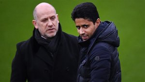 Antero Henrique junto a Nasser Al-Khelaïfi en su etapa como director deportivo del PSG