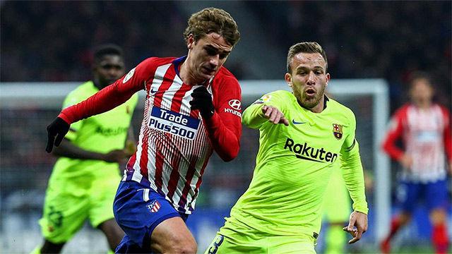 Arthur acabó lesionado el partido ante el Atlético