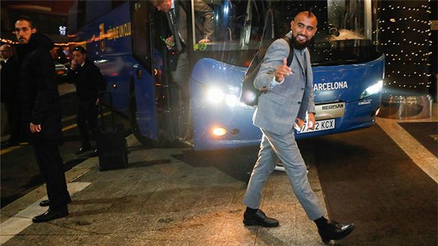 Así ha sido la llegada del Barça a Milán