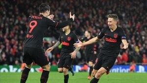 El Atlético dio la campanada eliminando en octavos al actual campeón, el Liverpool