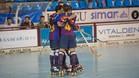 El Barça celebra el gol de Ignacio Alabart