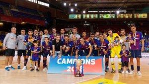 El Barça Lassa, tras ganar la última Copa de Catalunya en el Palau