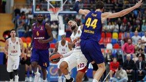 El Barça perdió en su estreno contra el CSKA de Moscú (95-75)