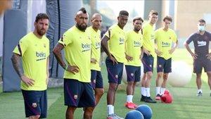 El Barça sigue a rajatabla el protocolo de la UEFA