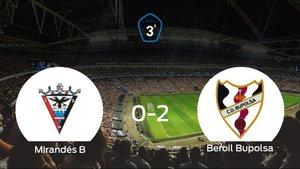 El Beroil Bupolsa suma tres puntos a su casillero ante el Mirandés B (0-2)