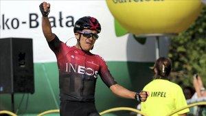Carapaz se impone en la tercera etapa del Tour de Polonia