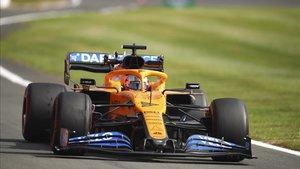 Carlos Sainz durante una de las sesiones en Silverstone