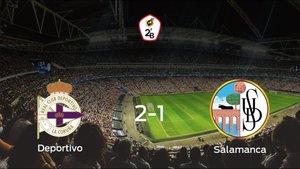 El Deportivo gana 2-1 al Salamanca UDS en el Municipal Riazor