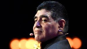 Diego Armando Maradona, en una gala de la FIFA hace tres años