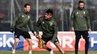 Dybala volvió a ejercitarse con los Juventus, pero no entró en la convocatoria