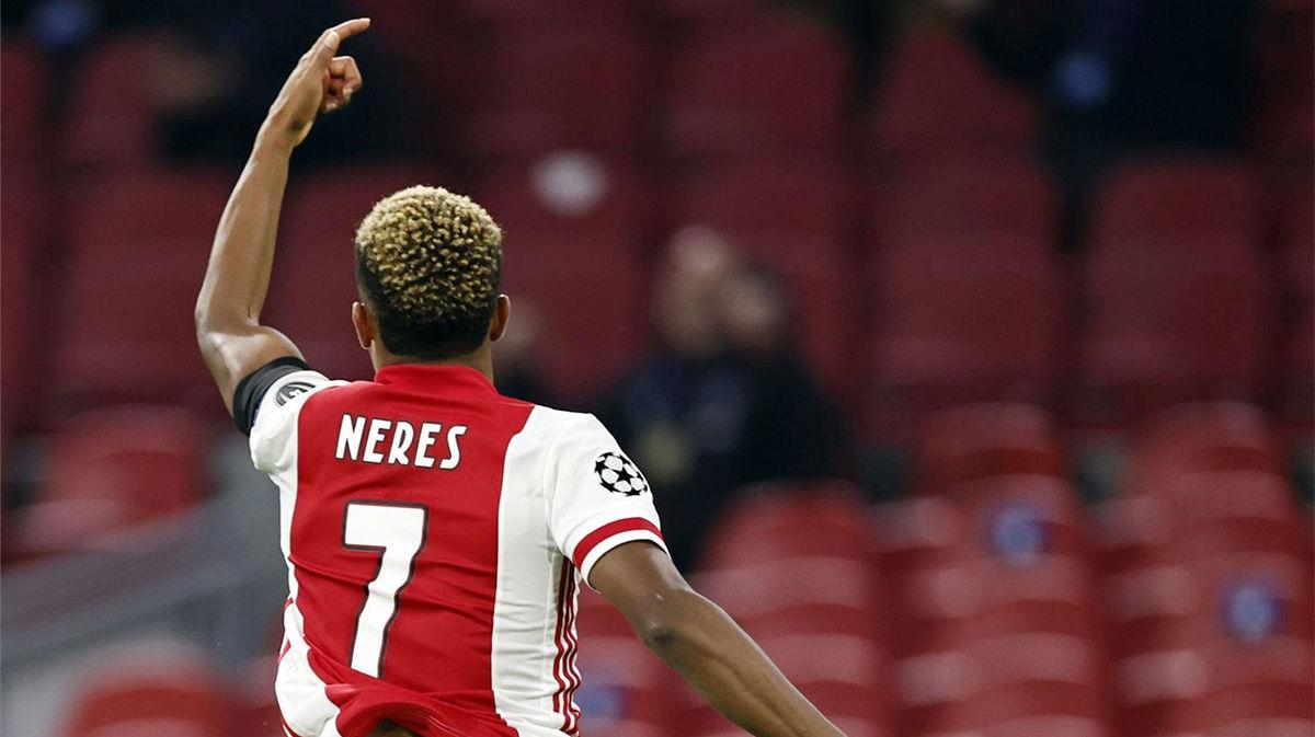 El gol de David Neres para sentenciar al Midtjylland