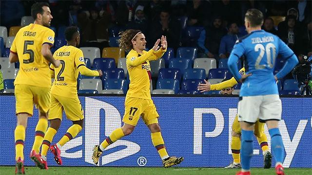 El gol de Griezmann que iguala la eliminatoria y da oxígeno al Barça