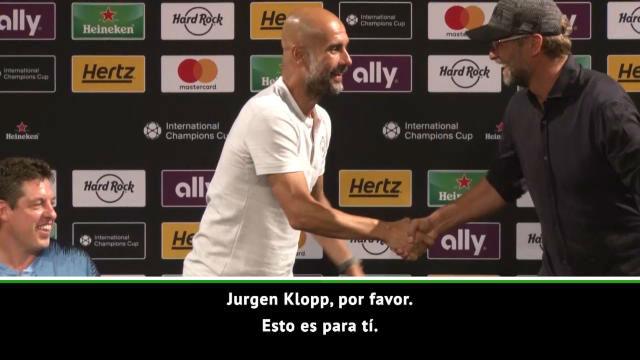 Guardiola da el relevo a Klopp