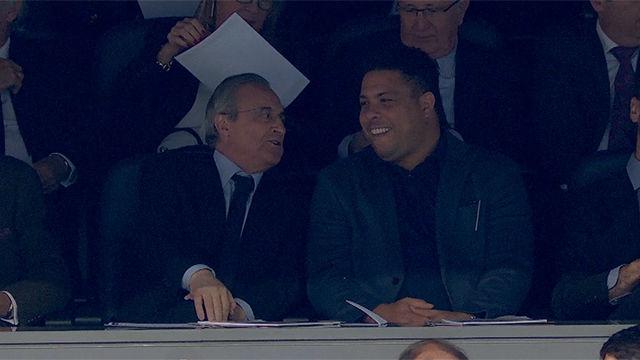La imagen más curiosa: ¡Florentino y Ronaldo juntos en el palco presidencial!