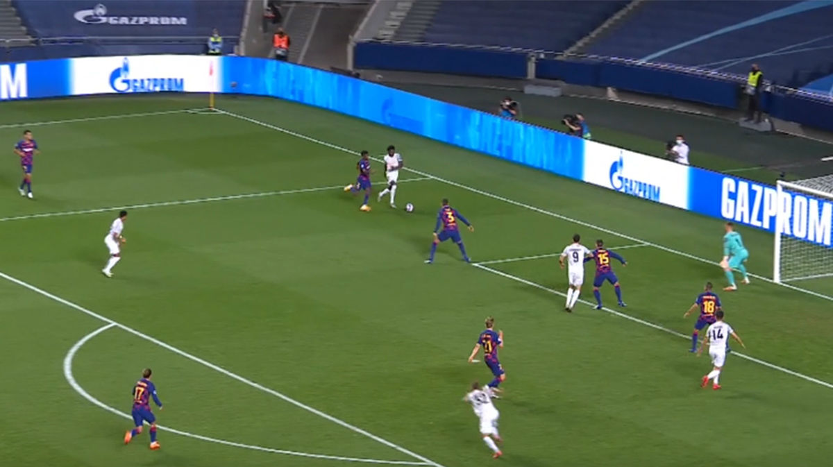 El increíble destrozo de Alphonso Davies a Semedo en el 2-5 que debería hacer pensar sobre el futuro del lateral en el Barça