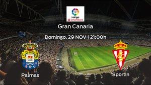 Jornada 15 de la Segunda División: previa del encuentro Las Palmas - Real Sporting