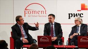 Josep María Bartomeu, en una conferencia