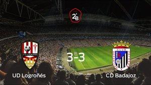 El Logroñés y el Badajoz empatan a tres en la vuelta de los Playoff