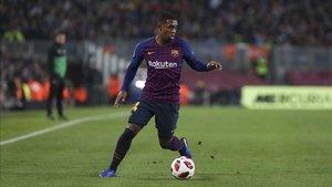 Malcom salió en la recta final del FC Barcelona - Leganés