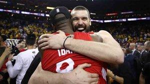 Marc Gasol sigue celebrando su campeonato de la NBA