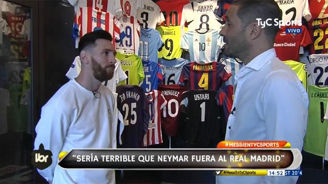 Messi: Ver a Neymar en el Madrid sería terrible