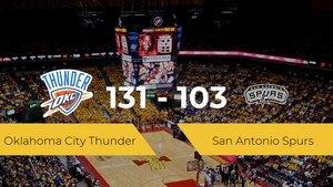 Oklahoma City Thunder logra ganar a San Antonio Spurs en el Chesapeake Energy Arena (131-103)