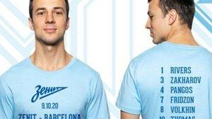 Pangos luce la camiseta conmemorativa