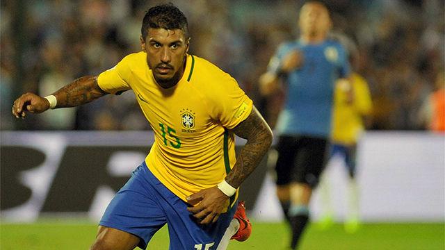 Paulinho logró un hat-trick ante Uruguay el pasado mes de marzo