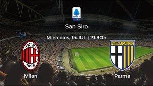 Previa del encuentro: el AC Milan recibe al Parma en la trigésimo tercera jornada