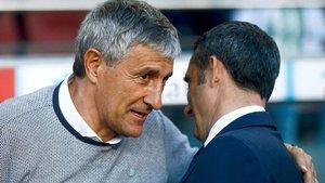 Quique Setién doblegó al Barça de Ernesto Valverde en su última visita al Camp Nou