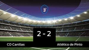 Reparto de puntos entre el Canillas y el Atlético de Pinto, el marcador final fue 2-2