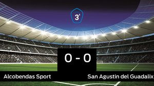 El San Agustin del Guadalix saca un punto al Alcobendas Sport a domicilio 0-0