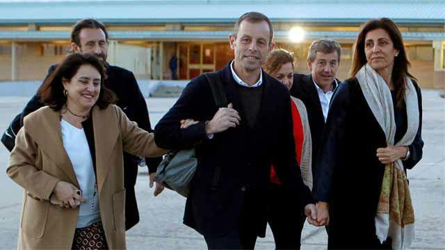 Sandro Rosell sale de prisión con ganas de ver al Barça