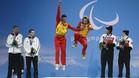 Santacana y Galindo, celebrando medalla en Sochi 2014